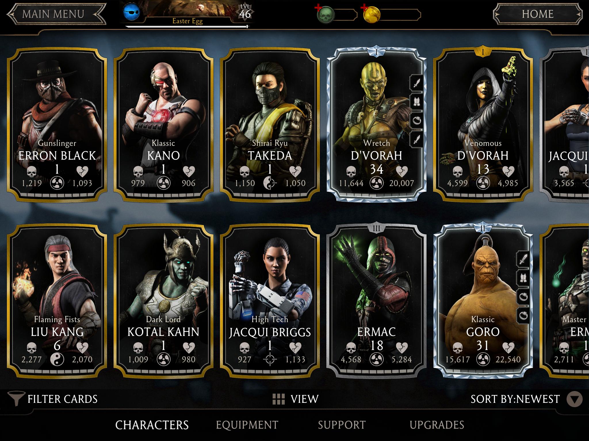 Most Powerful Characters In Mortal Kombat X Ios Mortal Kombat