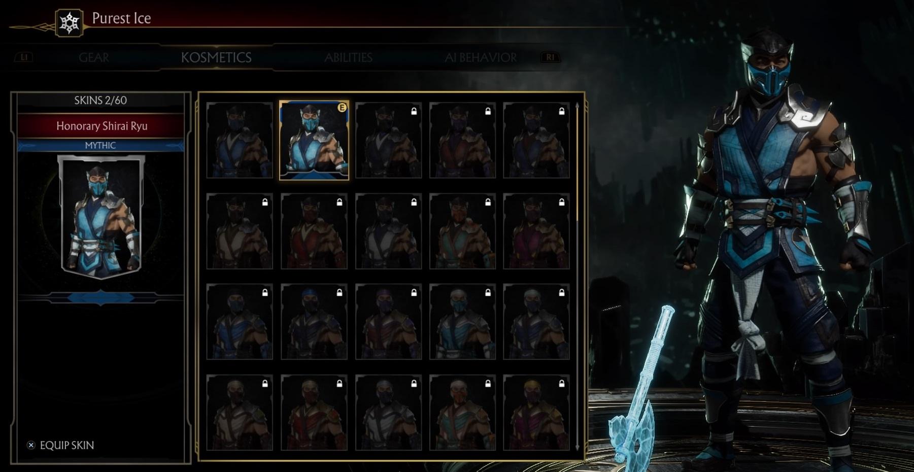 How to access Skins in Mortal Kombat 11 – Mortal Kombat Games
